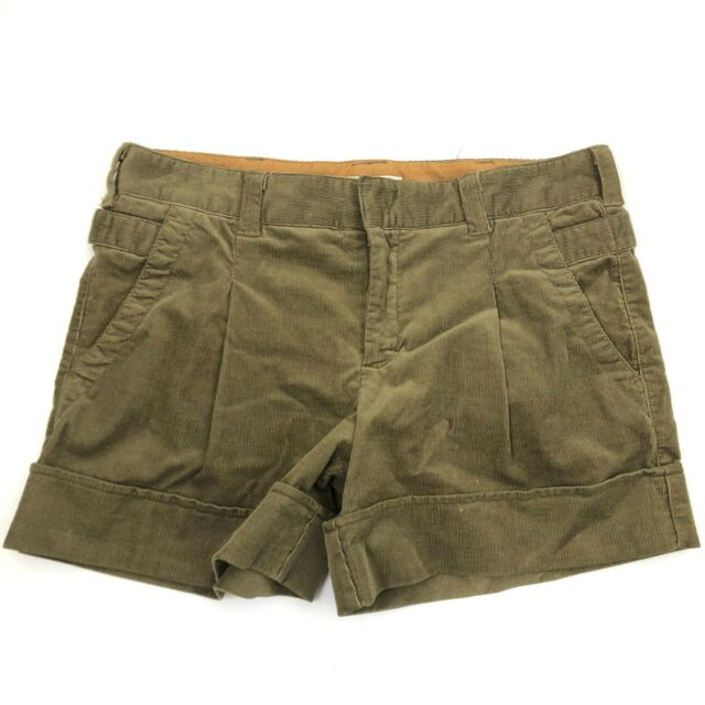 Vince Women's Size 6 Casual Solid Cords Brown Corduroy Cuffed Shorts