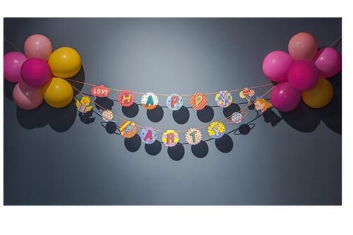1-5M Children Boys Girls Happy Birthday Star Party Bunting Banners Decorations