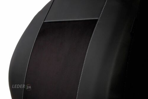 Kunstleder SITZBEZÜGE AUTO SCHWARZ x BMW 3er E30 E36 E46 E90 E91 E92
