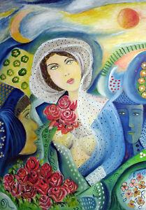 "MARIA MURGIA - ""Ricordando Giancarlo"" - Olio su tela cm 100x70"