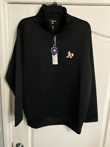 NWT-Antigua-Golf-XL-Oakland-MLB-Athletics-A-s-1-3-Zip-Pullover