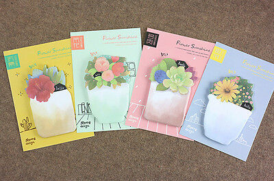 4 Pack(120 Sheet) flower Office Supplies Post it note Sticker Memo sticky notes