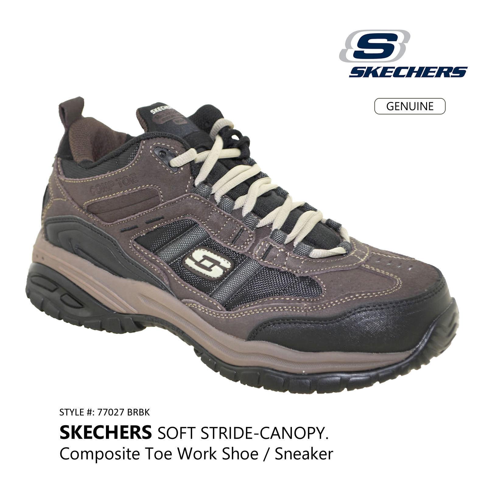 Senza tasse SKECHERS Work Relaxed Fit Soft Stride Canopy Uomo Composite Composite Composite Toe Work scarpe 77027  negozio di moda in vendita