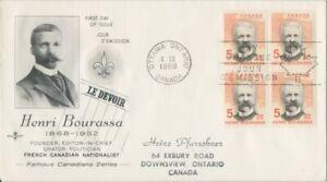 CANADA-1968-Henri-Bourassa-Famous-Canadians-addressed-FDC-JD2231