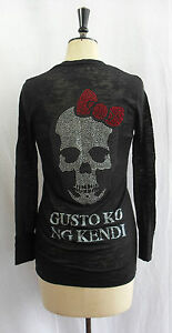 QUEEN-OF-E-VIL-BLACK-CRYSTAL-EMBELLISHED-LARGE-BOW-SKULL-BURNOUT-CARDIGAN-WRAP