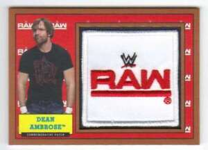 2017-Topps-Heritage-WWE-Wrestling-Commemorative-Patch-Bronze-99-Dean-Ambrose