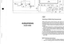 Grundig Original Service Schaltplan für  CCD 650