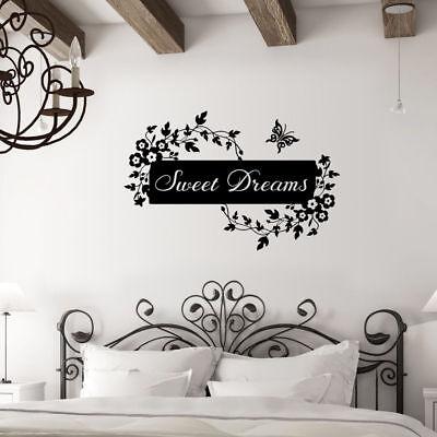 Adesivi e stencil da parete SWEET Dreams Farfalla Fiore Camera da ...