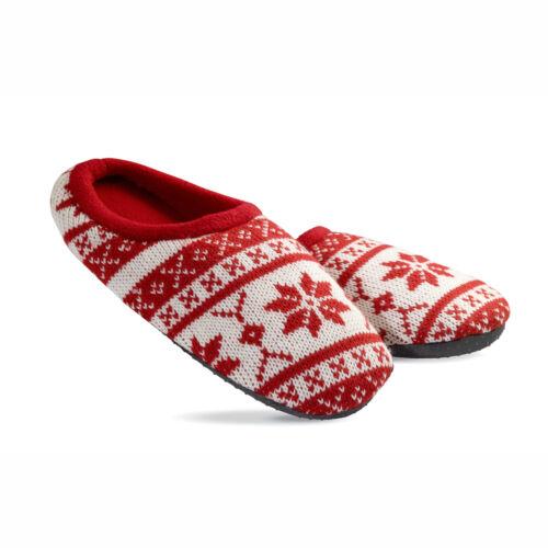 Chaud Unisexe Nordique à Motifs Pantoufles Cadeau Doublure Polaire M//L Antiglissant Semelle
