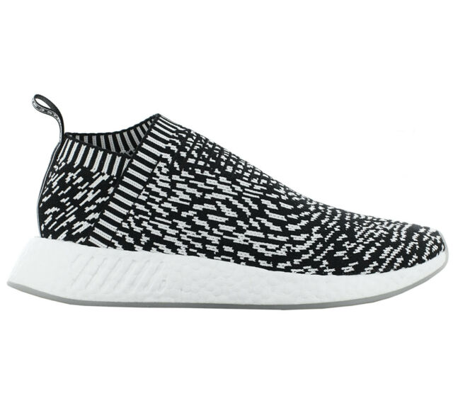 Adidas Nmd CS2 Pk Primeknit Boost Shoes BY3012 Men's Sneaker Black White New