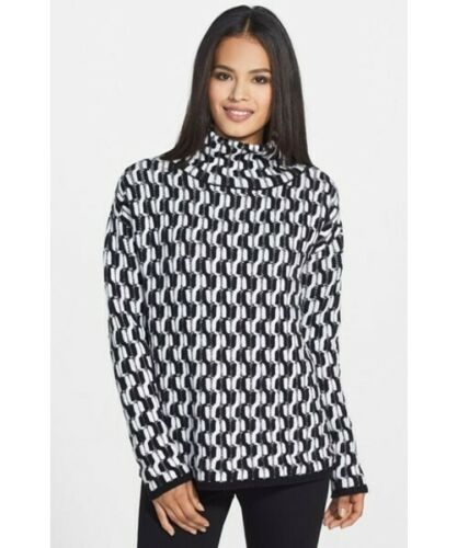 100% Cashmere NORDSTROM COLLECTION Black White Do… - image 1