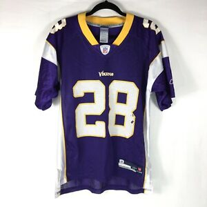 Reebok-Minnesota-Vikings-Jersey-Adult-Size-Medium-Purple-28-Adrian-Peterson-NFL