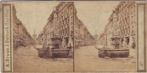 Suisse Bern La Grande Foto A. Braun Stereo Vintage Albumina Ca 1860
