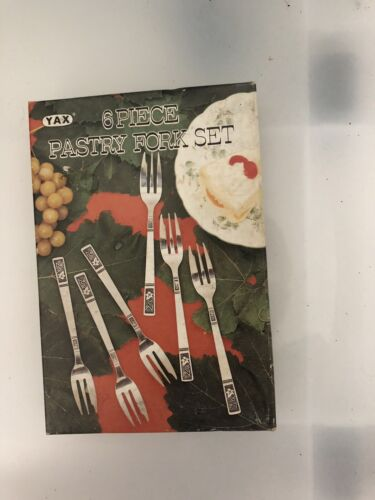 Vintage Stainless Steel Pastry Fork Set set of 6