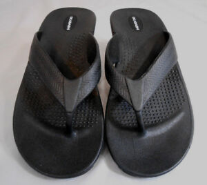 1035efabc7aea Okabashi Womens or Mens Flip Flops Size LL Rubber Black Mens 9-10 ...