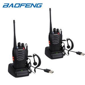 2-x-Baofeng-Walkie-Talkies-Long-Range-Two-Way-Radio-UHF-16CH-with-Headsets