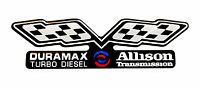 Duramax / Allison (flags) Gmc Emblem Super Sized Black