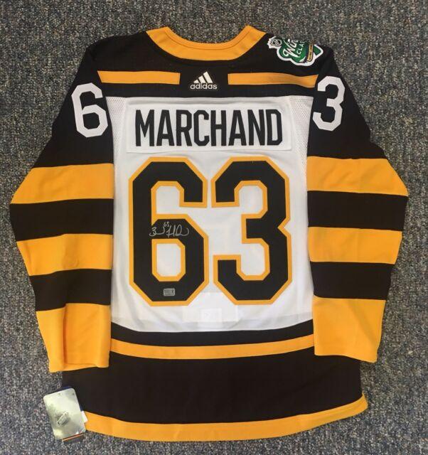size 40 023b7 b9617 Brad Marchand Boston Bruins Signed 2019 Winter Classic Adidas Jersey
