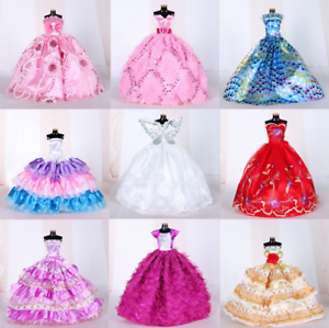 9PCS-Barbie-Doll-Wedding-Party-Dress-Princess-Clothes-Handmade-Outfit-for-12in