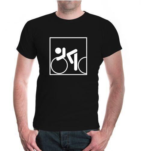 Herren Unisex Kurzarm T-Shirt Rennrad-Piktogramm racer racing speed cycling