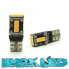 2x 9 LED SMD 2835 Standlicht xenon orange CheckControl CanBus T10 W5W Glassockel