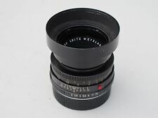 "Leica R 50mm f:2 Summicron lens with 12564  hood & cap Germany ""LQQK"""