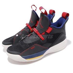 ac9a086fa3f Nike Air Jordan 33 Tech Pack XXXIII Black Dark Smoke Grey Sail AJ33 ...