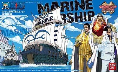BANDAI ONE PIECE MODEL KIT GRAND SHIP COLLECTION #07 MARINE WARSHIP NEW