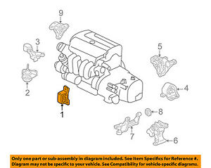 New Genuine Honda Engine Stopper Front OEM 50840SCVA81