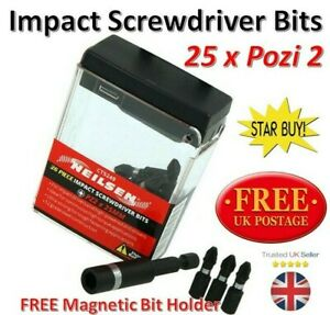 Impact Screwdriver Bits Cordless Driver Drill Pozidrive Magnetic Holder 5249