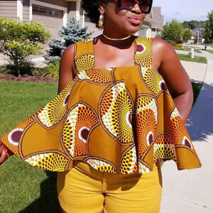 Womens-African-Print-Sleeveless-Tops-Strapless-Blouse-Plus-Size-Casual-T-Shirts