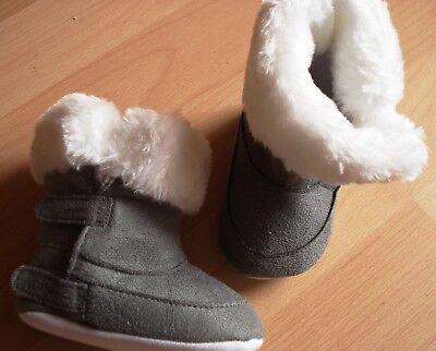 Baby-Schuhe,Gr.68/74 u.80/86,pink/weiß u.grau/weiß,Klettverschluss,Textilsohle