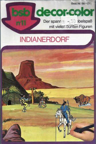 BSB DECOR-COLOR  RUBBELBILDER RUB DOWN -1976 VINTAGE INDIANERDORF OVP