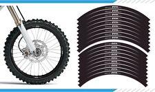 "EXCEL WHITE / BLACK MOTOCROSS MX ENDURO RIM DECALS GRAPHICS STICKERS 21"" / 18"""