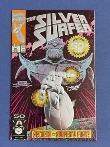 Marvel-SILVER-SURFER-50-Comic-Book-LOT-Signed-Ron-Lim-High-Grade-Thanos-Foil