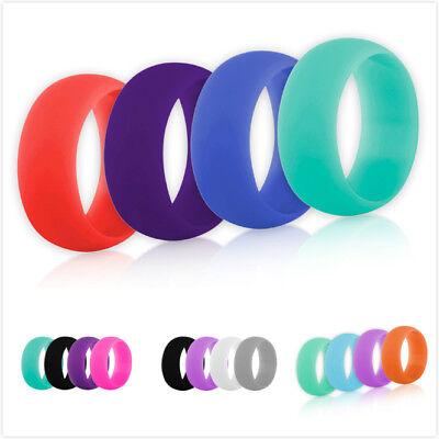 4x GOGO Women/'s Silicone Wedding Ring Band Pack Sports Gym Size 5 6 7 8 9