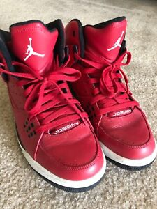 all red leather jordans
