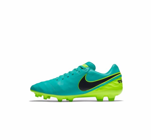 06314342670c NIKE TIEMPO LEGACY II FG FOOTBALL BOOT MENS CLEAR JADE BLACK VOLT SOCCER NEW