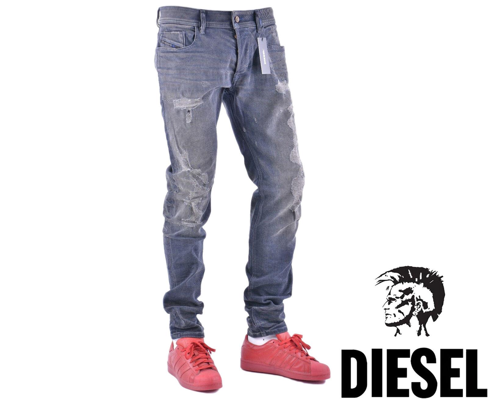 DIESEL SLEENKER 084DL W34 L32 Mens Denim Jeans Distressed Slim Fit Skinny