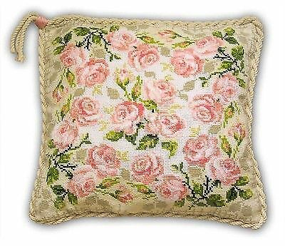 ROSES CUSHION Counted Cross Stitch Kit RIOLIS