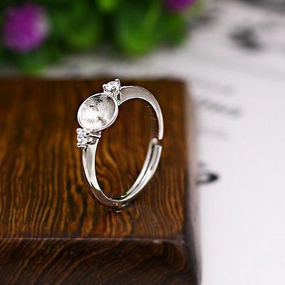 10Pieces $69.9 Pearl 6-9mm925 Sterling Silver Engagement Wedding Semi Mount Ring