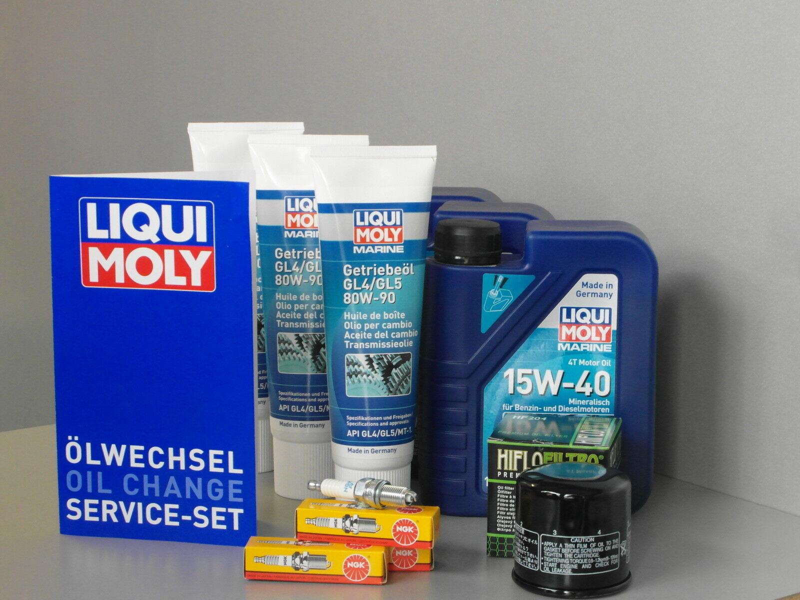 Wartungsset Mercury F 40 3 3 3 Zylinder Service Ölwechsel Öle Zündkerze Ölfilter 0af67f