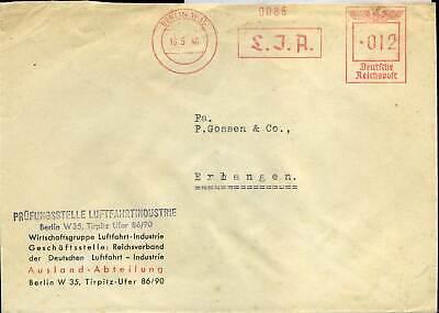 407855) Flugpost Blg Mit Afs Berlin L.j.a., Luftfahrtindustrie 1940, Ausland