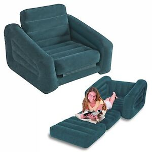 Image Is Loading Single Sofa Bed Chair Pull Out Inflatable Camping