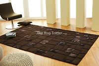 Ultimate Unique Animal Brown Wool Viscose And Leather Pile Rug Various Sizes