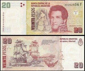 ARGENTINA-20-Pesos-2018-Pick-355-SC-UNC