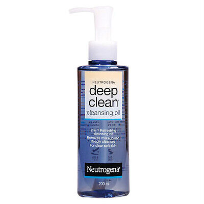 NEUTROGENA® DEEP CLEAN CLEANSING OIL MAKE-UP REMOVER 200mL/6.7oz NEW