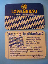 Beer Coaster: Lowenbrau Brauerei ~ Strong Tradition ~ Munchen, Bavaria, Germany