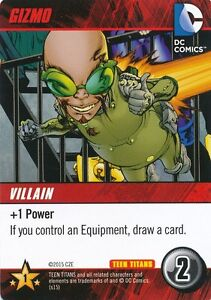 Gizmo Dc Comics Deck Building Game Teen Titans Card Ebay
