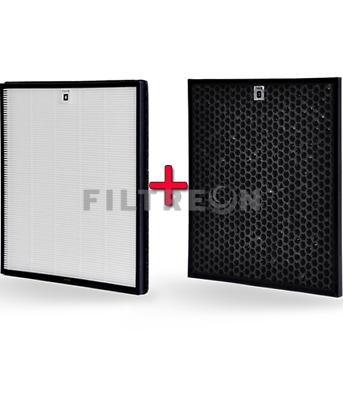 Filtreon Kombifilter 2in1 für Philips AC3256//10 AC4558//50 AC4550//50 AC3259//10